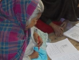 Literacy Spells L-O-V-E for Woman with Leprosy