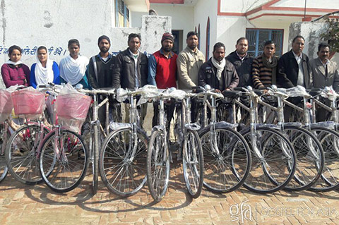 missionaries receive gift of new bicycles