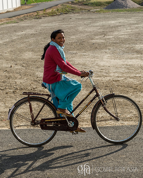 The tangible gift of a bicycle helped Shakurah (not pictured) trust that the Lord sees her needs and cares for her.